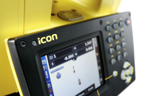 Leica iCON robot totalstation close up